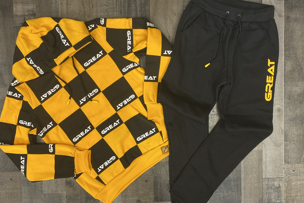 Retro- Great sweatsuit (yellow/black)