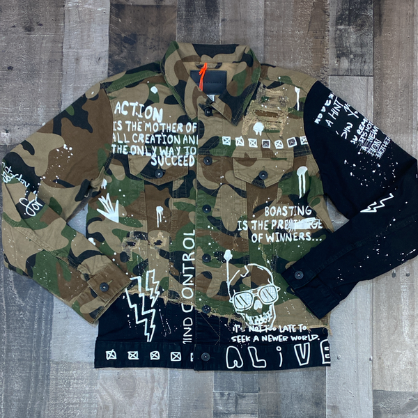 Smoke rise- camo denim jacket