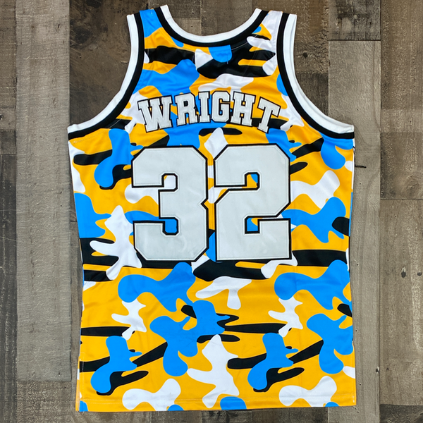 Headgear Classics- love and basketball Wright camo basketball jersey