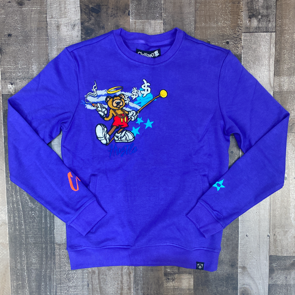 Civilized- hustle bear crewneck