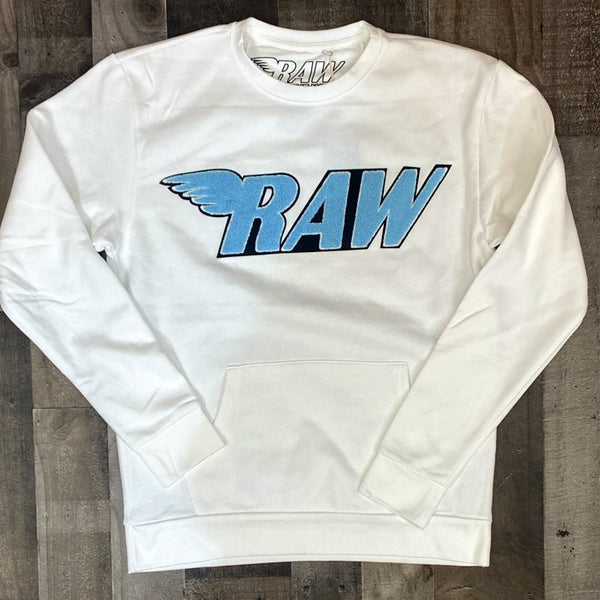 Rawyalty- Raw sweater (white/blue)