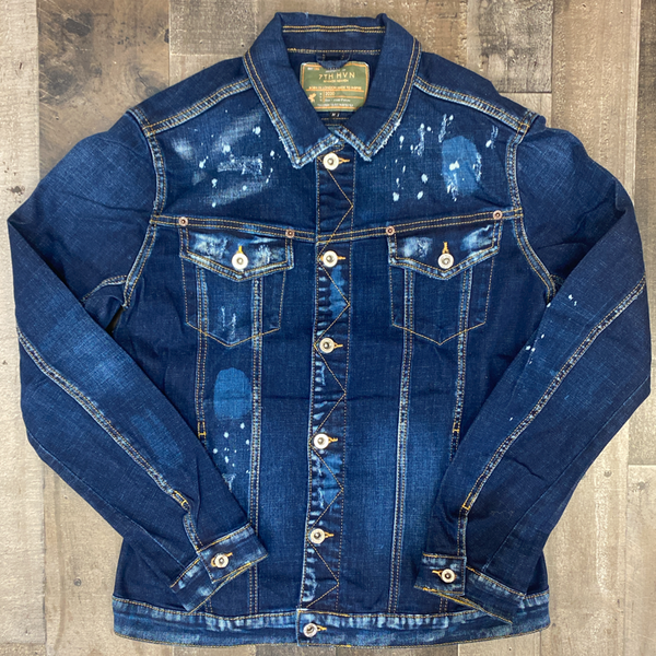 7th hvn-  acid jean jacket