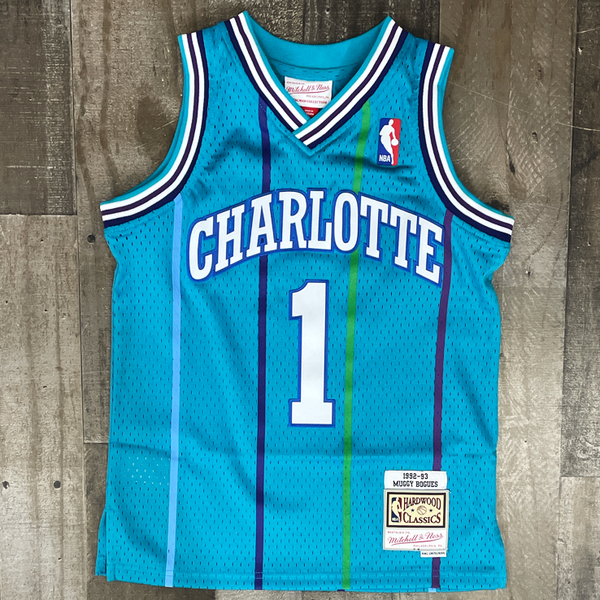 Mitchell & Ness- Charlotte Hornets Bogues Muggsy jersey (kids)