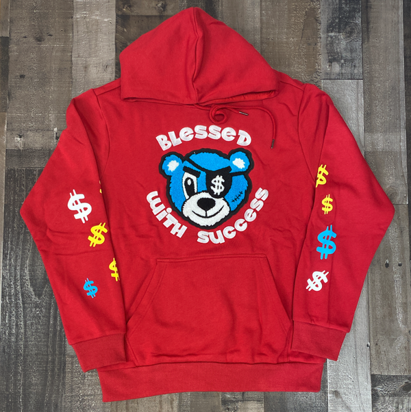 Camp- Bless W/ success hoodie (red)