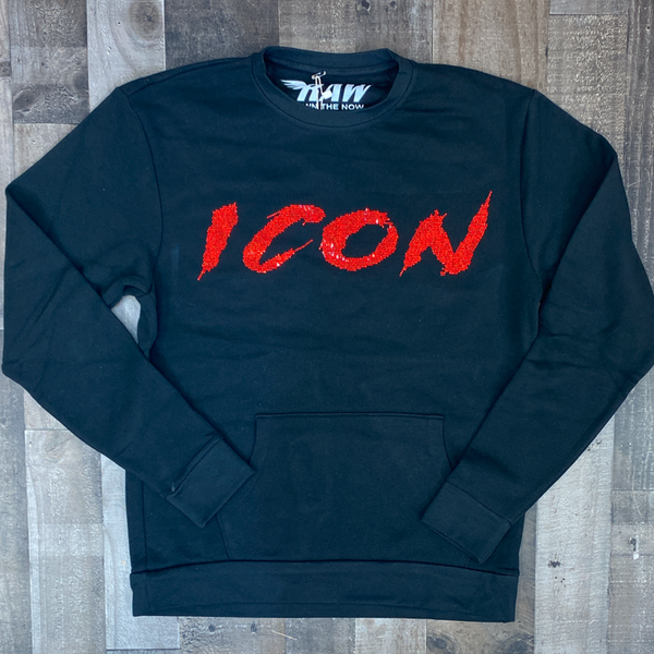 Rawyalty- Icon sweater (black/red)