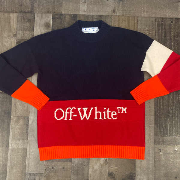 Off-White- colorblock off crewneck