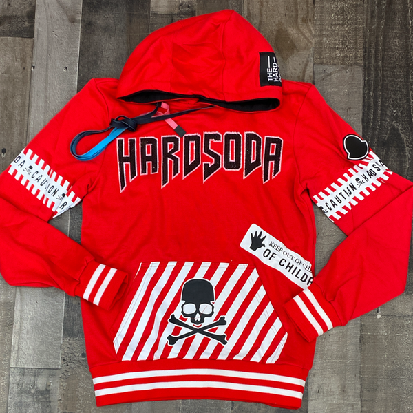 Hard Soda- studded hard soda hoodie (red)