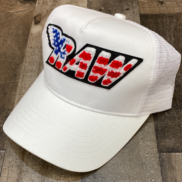 Rawyalty- USA raw chenille patch hat