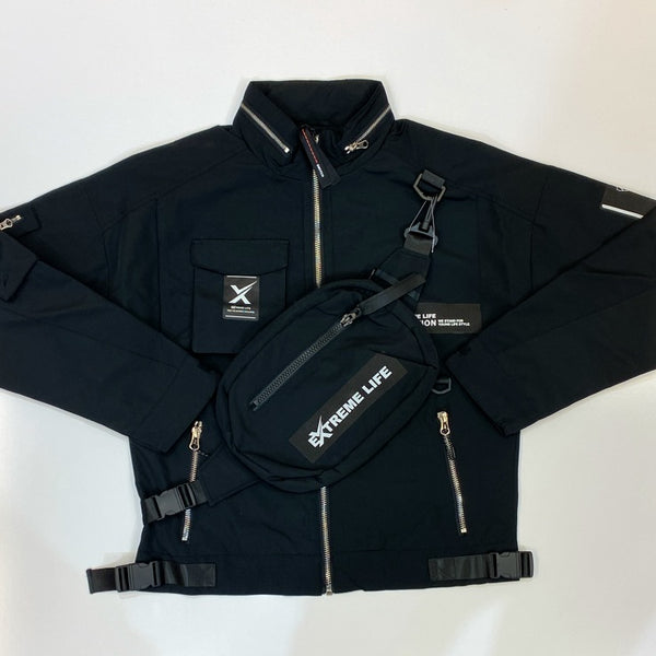 Switch- nylon jacket w/back