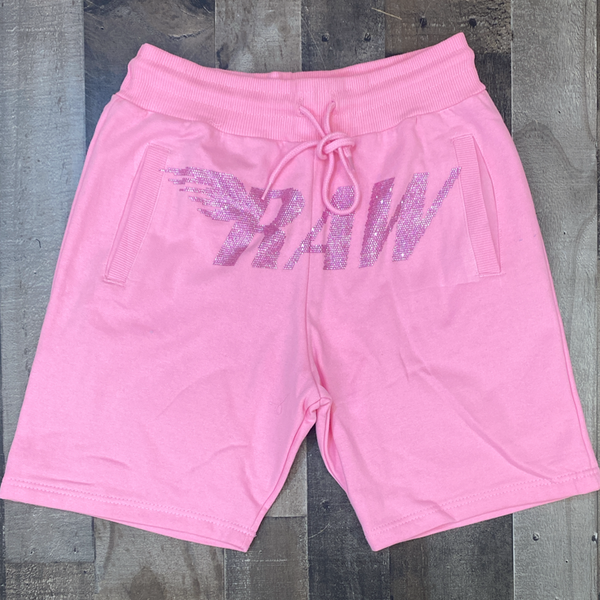 Rawyalty- studded raw shorts (pink)