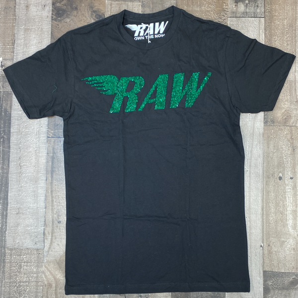 Rawyalty- studded raw ss tee (black/green)