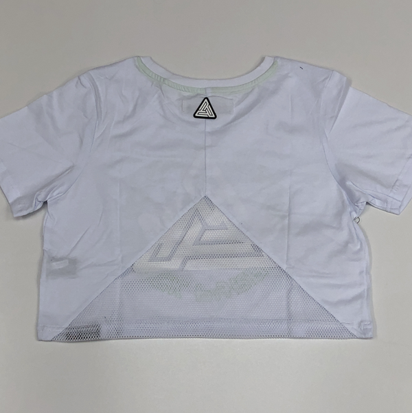 Black pyramid- stoned eyes logo cropped tee (women)