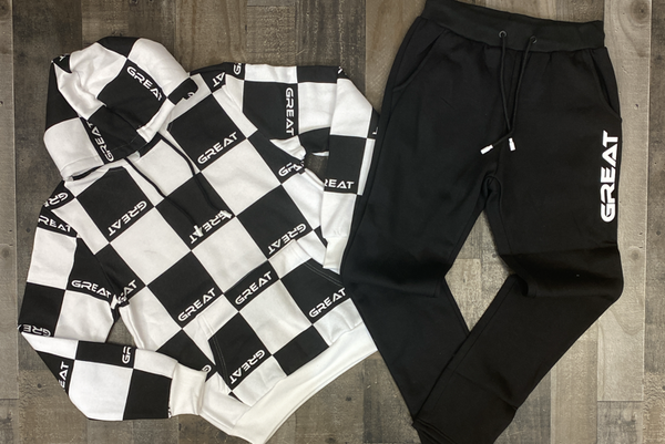 Retro- Great sweatsuit (white/black)