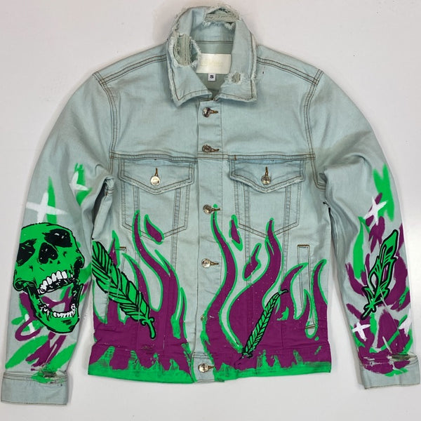 Mackeen- drake printed denim jacket