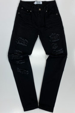 Dna Premium Wear- studded color patch jeans