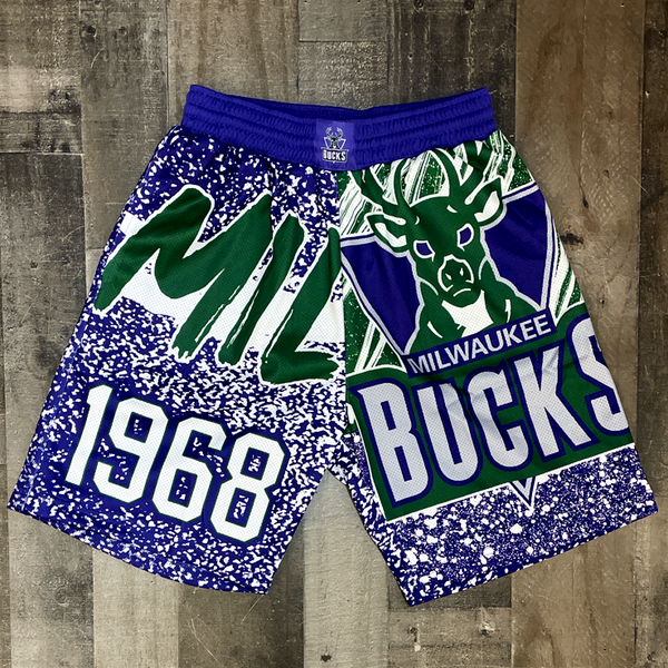 Mitchell & Ness- bucks nba shorts