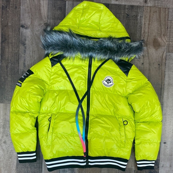 Hard Soda- patch bubble jacket (green)