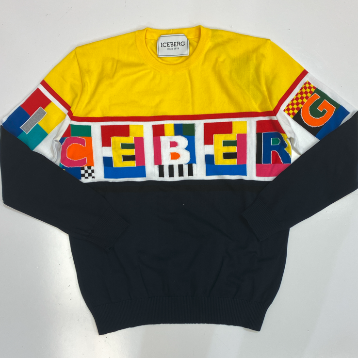 Iceberg- multicolor letter graphic sweater