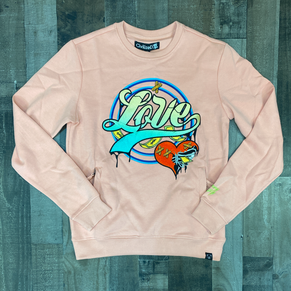 Civilized- love gradient crewneck