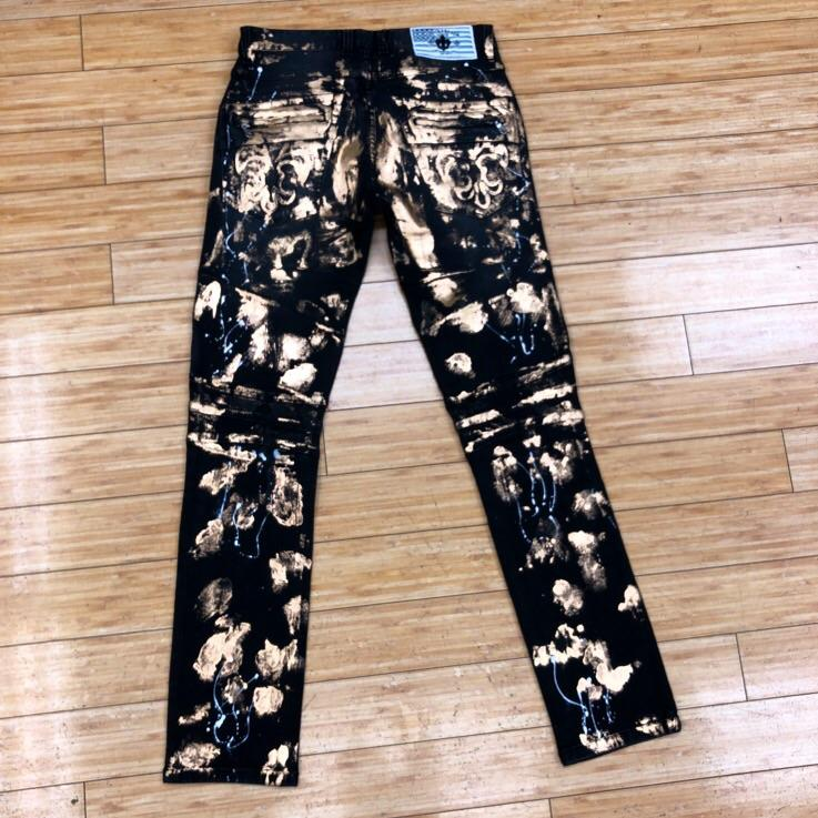 LAGUNA BEACH - BLACK W/GOLD FOIL JEANS