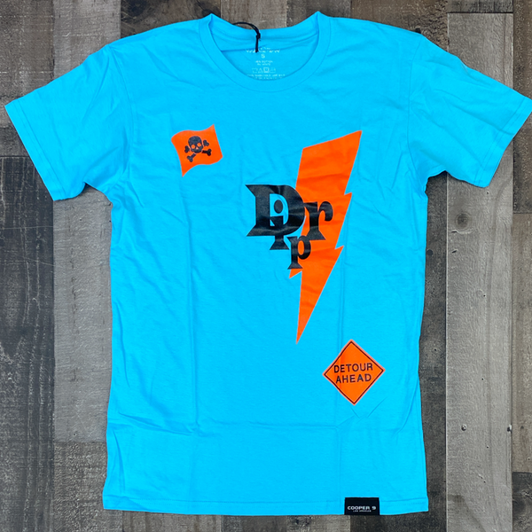 "Cooper 9- ""drip"" graphic ss tee (blue)"