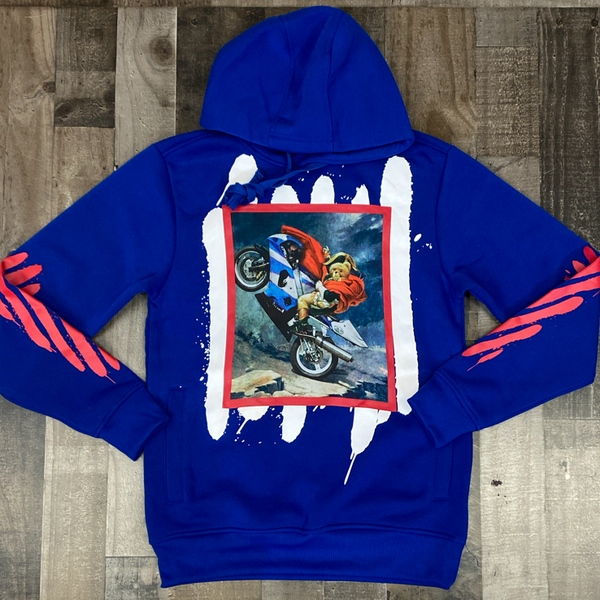 Rebel minds- motorcycle teddy hoodie