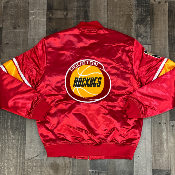 Mitchell & Ness- NBA heavyweight satin jacket Houston Rockets