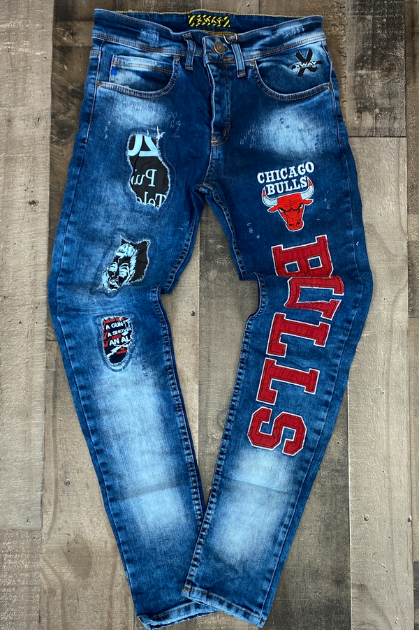 X Way- Chicago bulls jeans (blue)