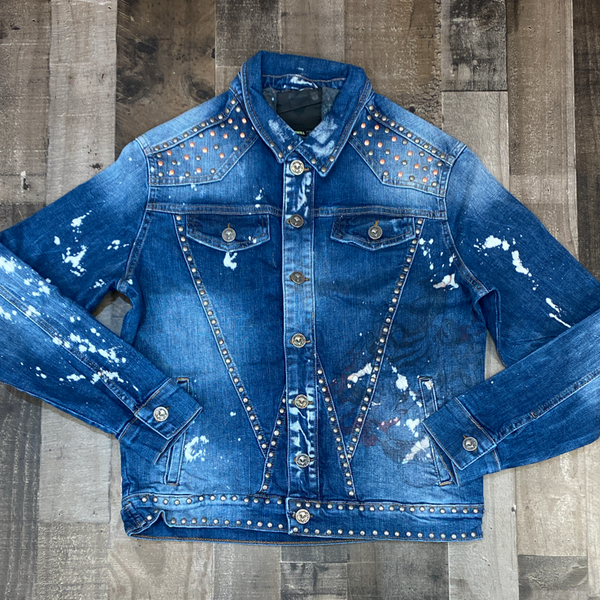 Alien 51- denim jacket w/pictures