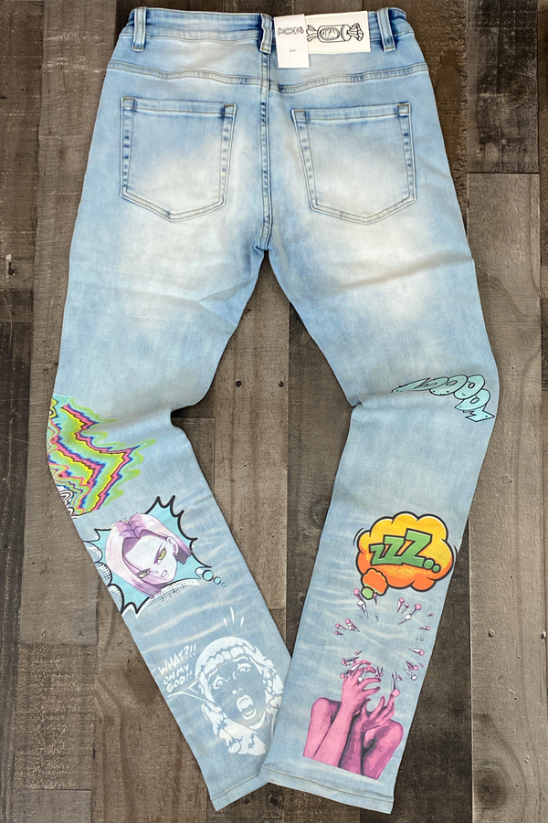 Sugarhill- psycho denim jeans (light wash)