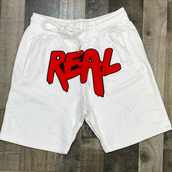 Rawyalty-real chenille patch shorts