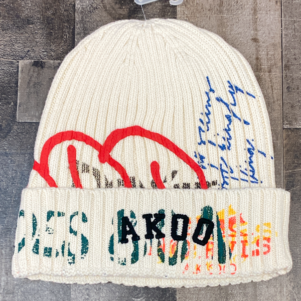 Akoo- cover knit hat