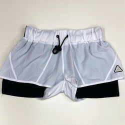 Black pyramid- women's tape logo sport shorts (women)