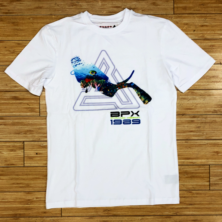 Black pyramid-white scuba mission tee 2.0