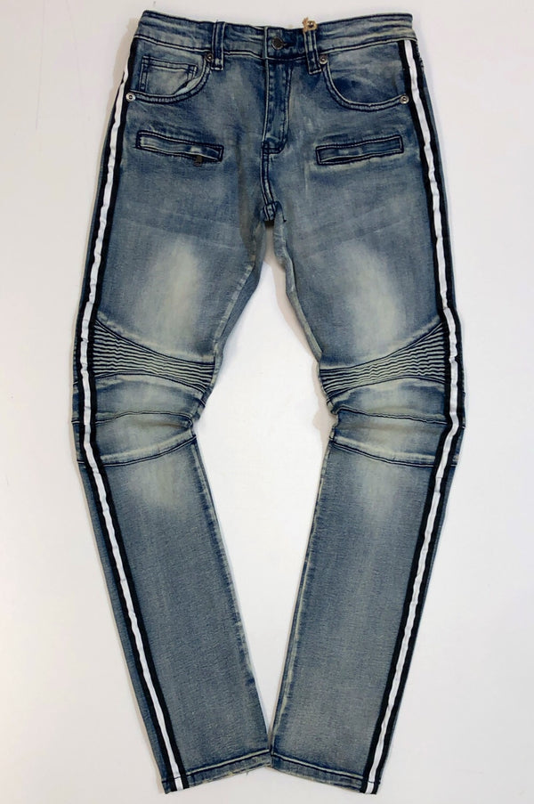 Kilogram- stripe denim jeans