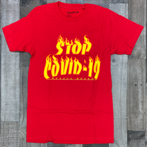 Reason- stop covid19 ss tee (red)
