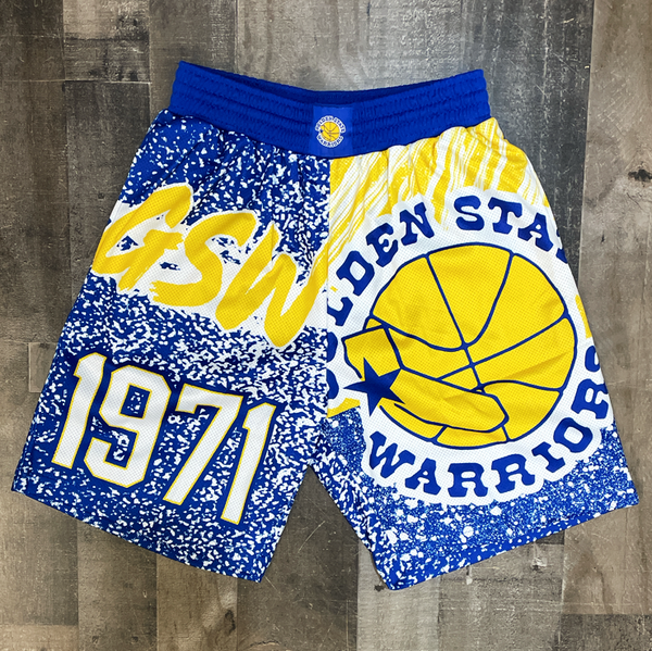 Mitchell & Ness- golden state nba shorts