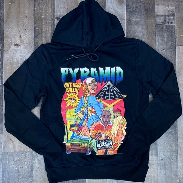 Black Pyramid- out here ballin hoodie