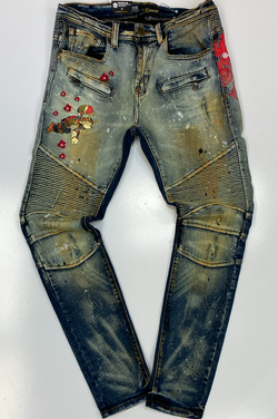 deKryptic- Popeye samurai augmented reality denim jeans