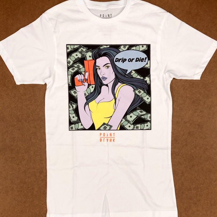 Point blank- drip or die ss tee