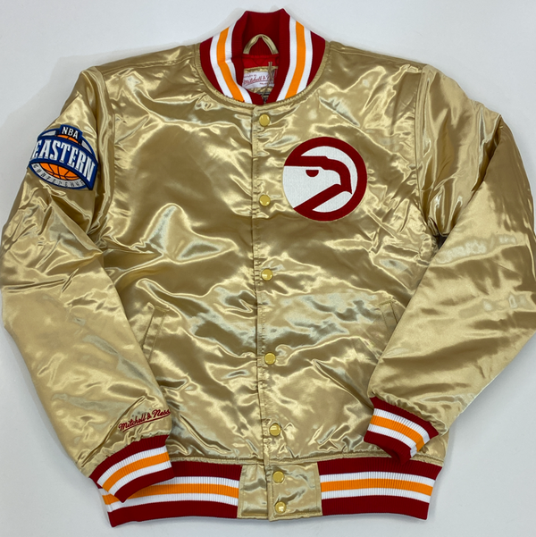 Mitchell & Ness- Atlanta Hawks nba championship satin jacket