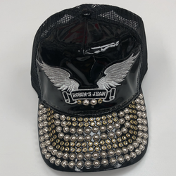 Robins Jean- SnapBack w/ clear crystals