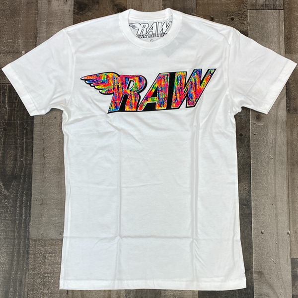 Rawyalty- raw chenille patch ss tee (multicolored)