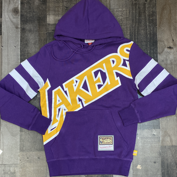 Mitchell & Ness- nba substantial fleece hoodie Los Angeles Lakers