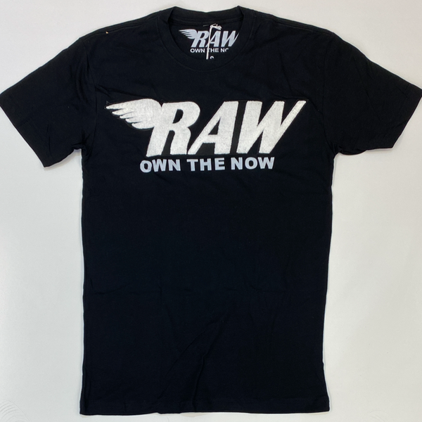 Rawyalty- raw chenille patch ss tee(black/white)