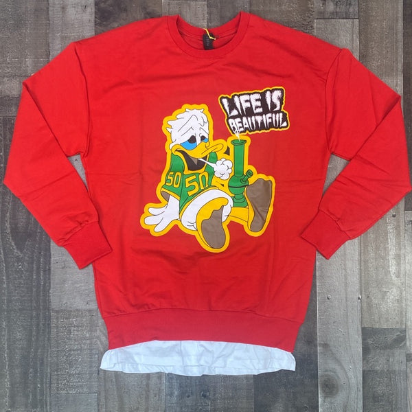 Plus Eighteen- Donald Duck sweater (red)