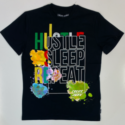 Create Tmrw- hustle, sleep, eat ss tee
