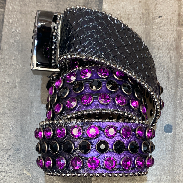 Dna Premium Wear- studded belt (dark purple)
