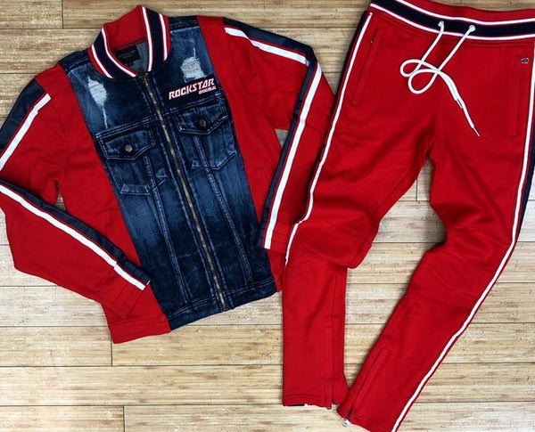 Rockstar- Marvin tracksuit (red)