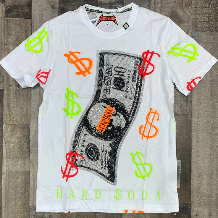 Hard Soda- studded money ss tee